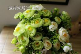 Artificial PE Display White Camellia Flowers 10 Pieces 30 CM Length High Grade Handmade Chrismas Floral Wedding Party Decoration Home Cheap