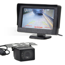 rear monitor UK - 4.3inch TFT LCD Car Monitor Rear View Monitor + IR Night Vision Rear View Camera Backup Car Camera Parking System
