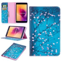 """stand pouch tab 2019 - For Samsung Tab A 8.0"""" 2017 T380 T385 Cartoon Panda Owl Stand Leather Case Flip Flower Wallet Pouch Butterfly Smart"""