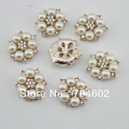 flat back buttons Canada - Hot Sale New Products 25mm rhinestone button Bling diamond Alloy Metal Buttons Flat Back korean hair accessory 20pcs lot bt07