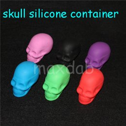 $enCountryForm.capitalKeyWord NZ - Quality Skull Shape Wax Container Jars Container skull Silicone Container For Oil Crumble Honey Wax Tools Jars Dab Wax dab vaporizer