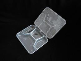 150 PCS / CARTON Contenitori alimentari monouso Lunch Box Bento Custodia Trasparente Alimentare Conservazione Scatola da asporto all'ingrosso