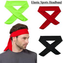 Back Hair Men Australia - 2017 Solid Cotton Tie Back Headbands Stretch Sweatbands Hair Band Moisture Wicking Workout Men Women Bands