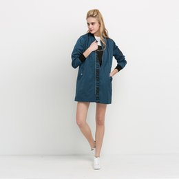 Biker Clothes Women NZ - New Fashion Women Clothing Biker Outwear Long Sleeve Bomber Jacket Solid Casual Streetwear Printing Zipper Coat