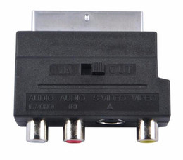 s video rca adapters 2018 - Electronics A V RGB Scart to Composite 3 RCA S-Video AV TV Audio Adapter Converter Scart to RCA cheap s video rca adapte