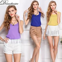 $enCountryForm.capitalKeyWord Canada - Wholesale- Women Sleeveless TShirts Summer O-neck Top Vest Camisas Mujer Casual Shirt Loose Tee Women Tops Plus Size Camisole Tanks Girl