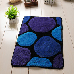 pad floor Canada - Soft Bathmat For Decor Rugs For Kitchen Anti-slip Stone Pattern Floor Mat Toilet Carpet Living Room Study Foot Pad Comfortable Carpets Rug