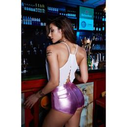 Vente en gros Beauty Garden Femmes Shorts En Cuir D'été 2019 Nouvelle Mode Femmes Maigre Sexy Shorts Haute Qualité Lambrissé Couleur Unie