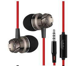Strong Tablets NZ - 3.5mm Metal Earphones Earbud for iphone samsung MP4 PC tablet with Microphone & Remote clear sound & strong bass headset
