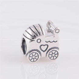 animals symbol Australia - Baby trolley charm beads 100% 925 Sterling-Silver-Jewelry Clear Symbols Bead DIY Bracelets Bangles Accessories
