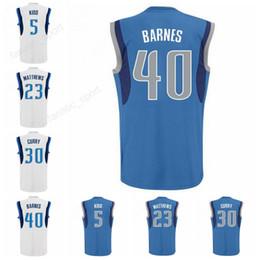 4e16dc2e8f0b ... Men 23 Wesley Matthews Jersey Printed Basketball 30 Seth Curry 40  Harrison Barnes Jersey 5 J.J ...