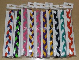 Hair band sport braid online shopping - Yoga Hair Bands Mix Colors rope triple Braided mini Stretch Softball Sports Headbands
