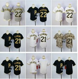 7680b05fb ... Cool Base Jersey - White Youth Pittsburgh Pirates Jersey Boys 21  Roberto Clemente 22 Andrew McCutchen Blank Black White Grey Stitched ...