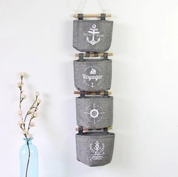 $enCountryForm.capitalKeyWord Canada - Wall Sundry Navy Fabric Cotton Pocket Hanging Holder Storage Bag Rack Cosmetic organizer Wall Hanging Storage Bags basket box 17092501