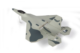 jet motors NZ - Macfree Micro F22 Jet Fighter w Auto Takeoff Control RTF (Brushed Motor Mode 1 Gray)