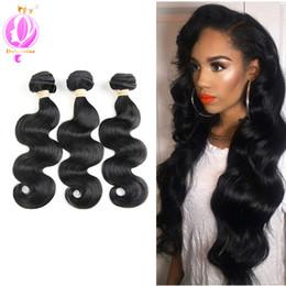 $enCountryForm.capitalKeyWord Australia - Brazilian Body Wave Hair Extension 3 Pieces Body Wave Human Hair Bundles Natural Black Color 8-28 inch No Tangle