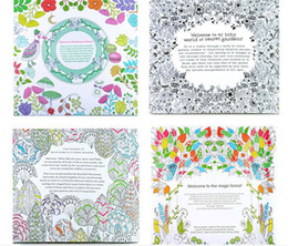 Adult Coloring Books 4 Designs Secret Garden Animal Kingdom Fantasy Dream Enchanted Forest Kids Painting Colouring Y081