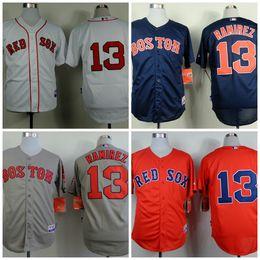 29ef22d58 ... Mens Boston Red Sox 13 Hanley Ramirez Majestic White Red Grey Navy Home Cool  Base Baseball ...