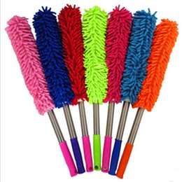 Discount book cases - New 5 colors Chenille duster Superfine fiber Dust duster Dust removal supplies household Cleaning tools IA700