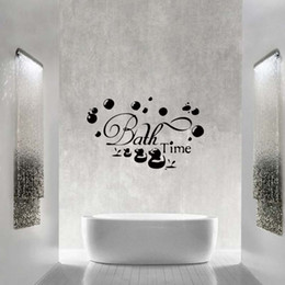Bathroom Wall Sticker Quotes Australia - Bath Time Ducks Soak Relax Quote Wall Personality Funny Stickers Art Bathroom Removable Decals Decorate Graphics Diy