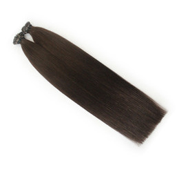 26 7a Grade Hair UK - Fast shipping Grade 7A wholesale price i tip hair 1g strands &100s pack 12''- 26'' Natural Color hair