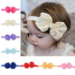 Ribbons For Hair Canada - 12 Colors Children Headbands Baby Girls Hair Band Hair Ornaments Ribbon Bow Tail for Kids Headdress Gift Wholesale Free Shipping