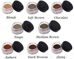 Venta al por mayor de ¡En stock! Crema para cejas Pomade Medium Brown Waterproof Maquillaje Ceja 4g Rubio Chocolate Dark Brown Ebony Auburn Medium Brown TALPE + regalo