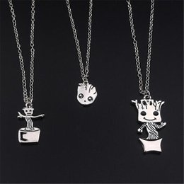 $enCountryForm.capitalKeyWord NZ - Movie Jewelry Charm Necklace Baby Groot Pendant Guardians of The Galaxy Necklace Designs Silver Plated Movie Jewelry Groot Kawaii Jewelry
