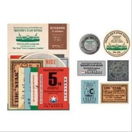 $enCountryForm.capitalKeyWord NZ - Wholesale 20Pack Lot Vintage Travel Stickers Decorative Paper Stamp Notebook Fifth Anniversary Of The Star Ferry Stickers H0125