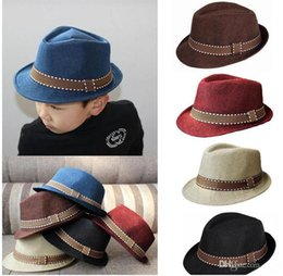 black fedora hats for girls 2019 - Kids fedora hat Boys Unisex billycock Cap for Children Classical Cool Jazz Feminino Trilby Sombreros 5colors choose