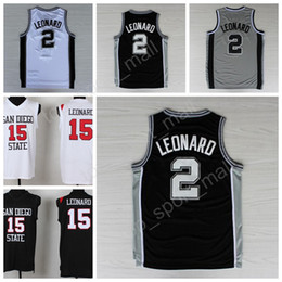 0334e0fe0915 ... high stitched 2 kawhi leonard black white jersey college san diego  state basketball jerseys leonard