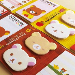 online shopping Cute Cartoon Rilakkuma Folding Memo Notepad Note Book Memo Pad Sticky Notes Memo Set Gift Stationery