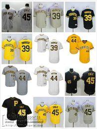 99a50406f ... Men Pirates 39 Dave Parker 44 Tony Watson 45 Gerrit Cole Black White  Grey Gold Pittsburgh ...