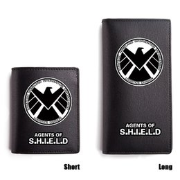 Marvel Shield Canada - Marvel Heros PU Wallet Black Long Purse Captian American Dead Pool Agent of Shield Caretria Iron Man Wallets Short PU