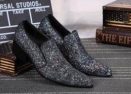 $enCountryForm.capitalKeyWord Australia - Christia Bella New Fashion Silver Glitter Men Dress Shoes British Party Wedding Loafers Pointed Toe Smoking Slippers Men's Flats