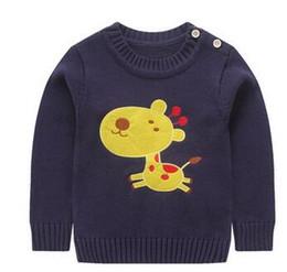 c3887f5b8 2017 Nueva marca Niños ropa Corea estilo baby boy plan impreso suéter  jersey niños de manga larga suéter Envío gratis