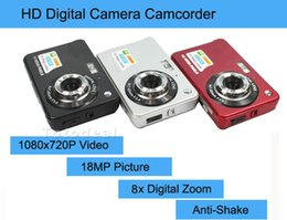 "shoot video NZ - Wholesale-New 18MP Cheap Compact Digital Camera Still Photo Camera with 2.7"" Screen 1280x720P HD Video,Lithium Battery and 8X Zoom"