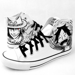 $enCountryForm.capitalKeyWord NZ - Kukucos Anime One Piece Hand-painted Shoes Graffiti Luffly Leisure Canvas Shoes Korean Tide Shoes Cosplay Gift For Jung Student