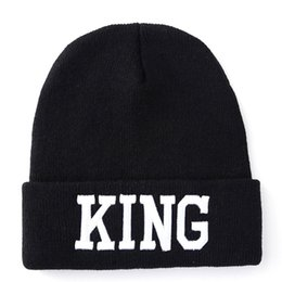 beanie hats for sale NZ - Hot sale King Queen Embroidery Beanie Hat Skull Caps For Men Women Couple Love Gifts Winter Hats