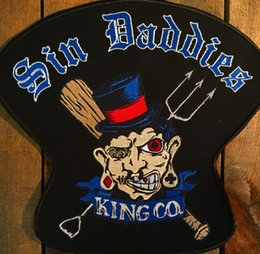 Bikers Back Patches Australia - COOLEST KINGKO MOTORCYCLE COOL LARGE BACK PATCH ROCKER CLUB VEST OUTLAW BIKER MC PATCH FREE SHIPPING