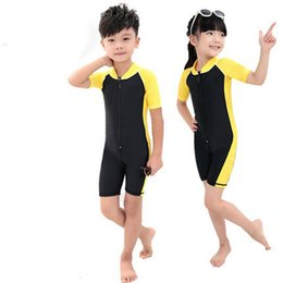 $enCountryForm.capitalKeyWord Canada - children uv swimsuit swimwear uv protection bodysuit one piece short sleeve lycra skin rush guard beach suit surfing rafting water sport