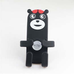 Bear Mobile Holder Canada - Universal Car Air Vent Mobile Phone Holder For iPhone Samsung Phones Holder Silicone Bear Car Mount Holder Stand