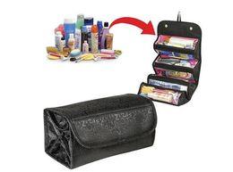 $enCountryForm.capitalKeyWord NZ - Hot TV Selling Roll-N-Go Cosmetic Bag Large Capacity Multifunctional Storage Bag Rolls Up For Easy Travel
