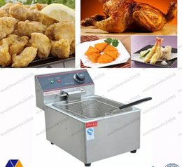 NEW hot sale 6L Electric Counter Deep fryer Fast Food Restaurant 2000W Frying Machine FREE SHIPPING MYY from electric dough manufacturers