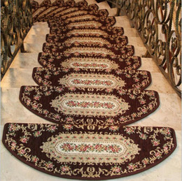 Chinese  5pcs lot Stepping Mats Stair Pad Area Rugs Floor Matting Anti Non Slip Cover Carpet Stairway Non-Slip Footcloth Mat manufacturers