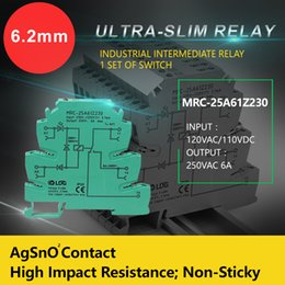 Module Relay Canada - MRC25A61Z230 Ultra-slim Relay Interface Relay AC Input Control AgSnO2 Contact Input Control Voltage 230VAC 220VDC Industrial Relay Module