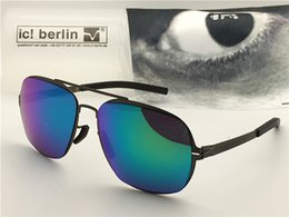 Germany coat online shopping - Germany designer brand sunglasses IC star formation ultra light without screw memory alloy detachable frame coating with picture lenses