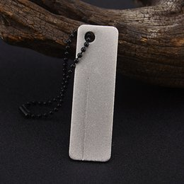 Christmas Gift Nails Australia - EDC Pocket Diamond Sharpener Stone Keychain For Knife Fish Hook Finger Nail File Outdoor Camping Tool Christmas Gift