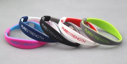 Ion sIlIcone online shopping - High quality silicone negative ion balance bangle energy endevr power bracelet purestereth energy wristband