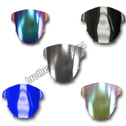 Discount zx6r windscreen - Wholesale 6 Color ABS Windshield Windscreen For Kawasaki Ninja ZX6R 2003-2004